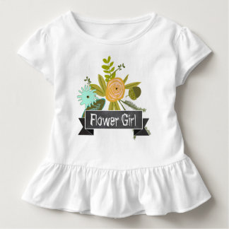 Modern Mint Chalkboard Flower Girl Wedding T-shirt