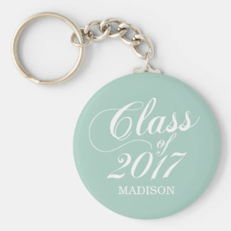 Modern Mint | Graduation Basic Round Button Key Ring