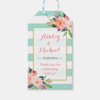 Modern Mint Green Floral Decor | Wedding Thank You