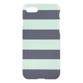 Modern Mint Green striped iPhone7 case