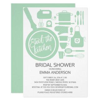 Modern Mint Kitchen Bridal Shower Invitation