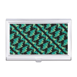 Modern Mirrored Geometric & Abstract Pattern Business Card Holder