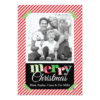 Modern Mix Merry Christmas Photo Card