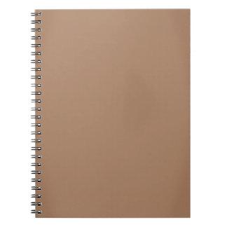 Modern Mocha Brown Customizable Notebook