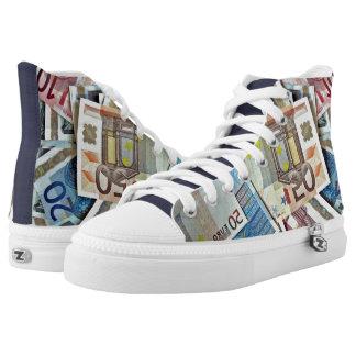 Modern Money, Euros, Custom Printed Shoes