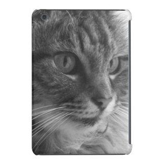 Modern monochrome cute cat ipad case