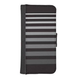 Modern Monochrome Gradient Stripes iPhone SE/5/5s Wallet Case