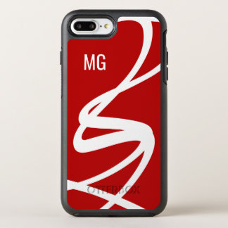 Modern Monogram Abstract OtterBox Symmetry iPhone 8 Plus/7 Plus Case