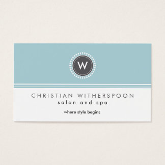 Modern Monogram Aesthetic Business Card