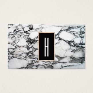 Modern Monogram, Black and White Marble, Stone