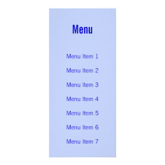 Modern Monogram - Blue Rack Card