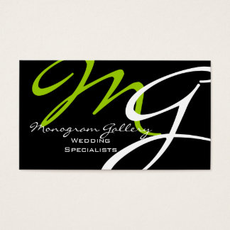 Modern Monogram Business Card Template