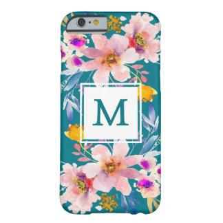 Modern Monogram Floral Elegant iPhone 6/6s Case