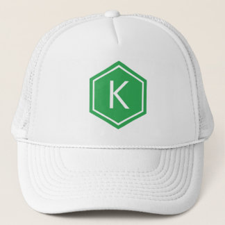 Modern Monogram Green Trucker Hat