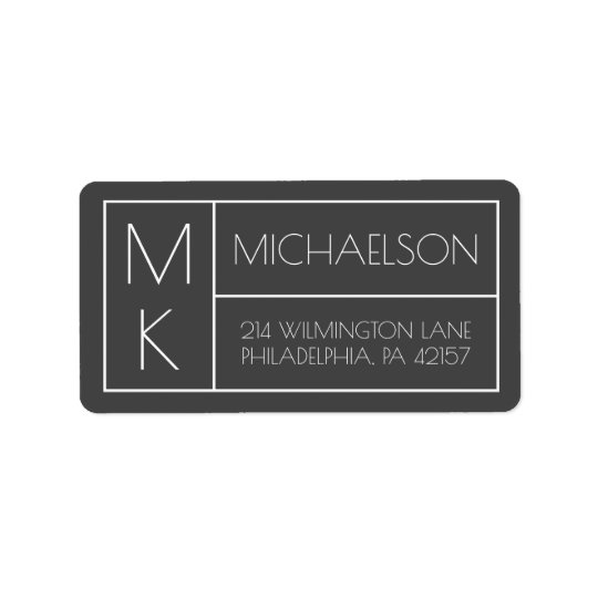 Modern Monogram Label