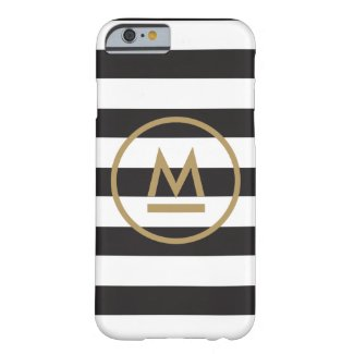 Modern Monogram on Bold Stripes Personalised