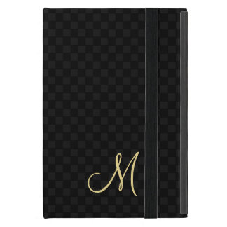 Modern Monogram Pattern Hard Cover Apple iPad Case