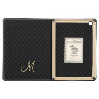 Modern Monogram Pattern iPad Hard Cover Book Case Case For iPad Air