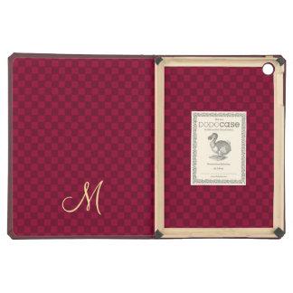Modern Monogram Pattern iPad Hard Cover Book Case iPad Air Cover