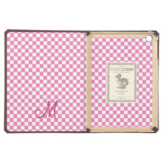 Modern Monogram Pattern iPad Hard Cover Book Case iPad Air Covers