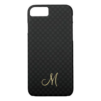 Modern Monogram Pattern iPhone Slim Fit Hard Case