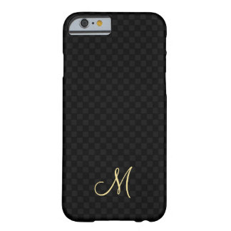 Modern Monogram Pattern iPhone Slim Fit Hard Case Barely There iPhone 6 Case
