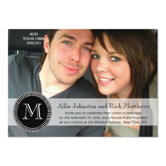 Modern Monogram Photo Wedding Invitations
