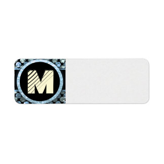 Modern Monogram Return Address Label