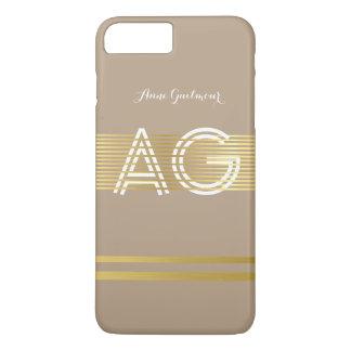 modern monogram taupe iPhone 8 plus/7 plus case