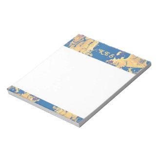 Modern Monogram Wet Paint Custom Note Pad