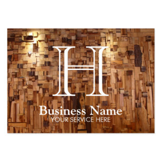 Modern Monogram Wooden Wall Decoration Pack Of Chubby Business Cards