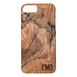 Modern Monogrammed Nature Hardwood iPhone 8/7 Case