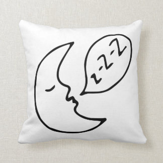 Modern Moon Nursery Decor Black Throw Pillow