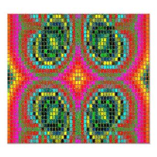 Modern mosaic colorful pattern photo