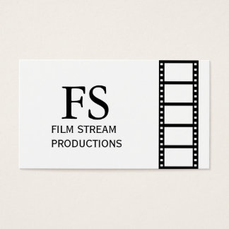 Modern Movie Director Film Producer Business Card
