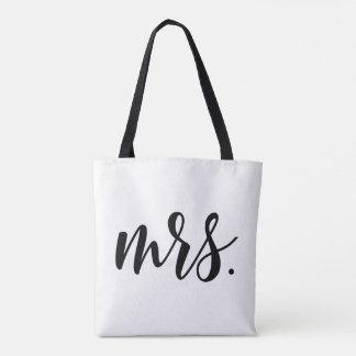 Modern Mrs. Bride Wedding All-Over Print Tote Bag
