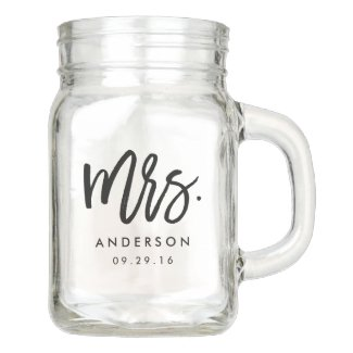 Modern Mrs. Wedding Mason Jar