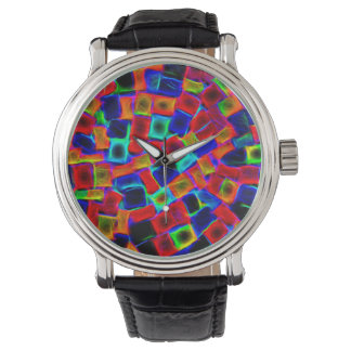Modern Multi Color Neon Abstract Pattern Watch
