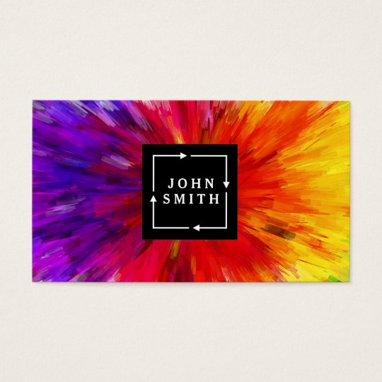 Modern Multi-colour Watercolors Cool Abstract Business Card
