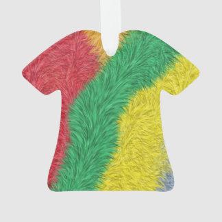 Modern multicolored furry pattern