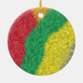 Modern multicolored furry pattern ornament