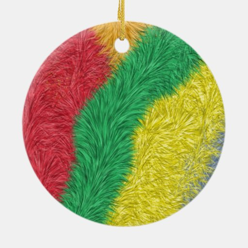 Modern multicolored furry pattern ornament