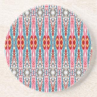 Modern multicolored pattern coaster