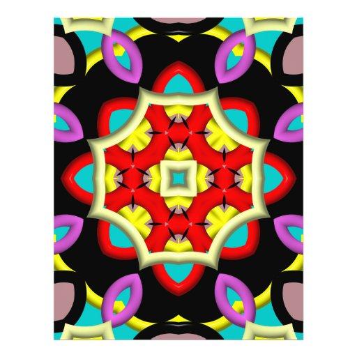 Modern multicolored pattern flyers