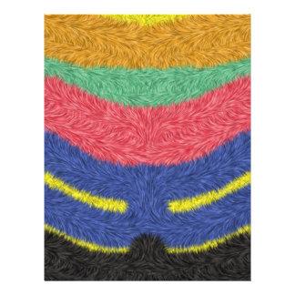 Modern multicolored pattern custom flyer