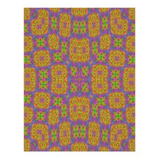 Modern multicolored pattern 21.5 cm x 28 cm flyer