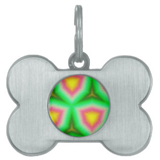 Modern multicolored pattern pet ID tag