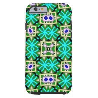 Modern multicolored pattern tough iPhone 6 case