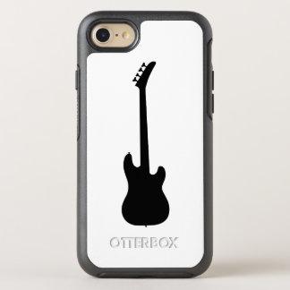 Modern Music Black Bass Guitar on White OtterBox Symmetry iPhone 8/7 Case