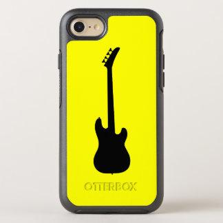 Modern Music Black Bass Guitar on Yellow OtterBox Symmetry iPhone 8/7 Case